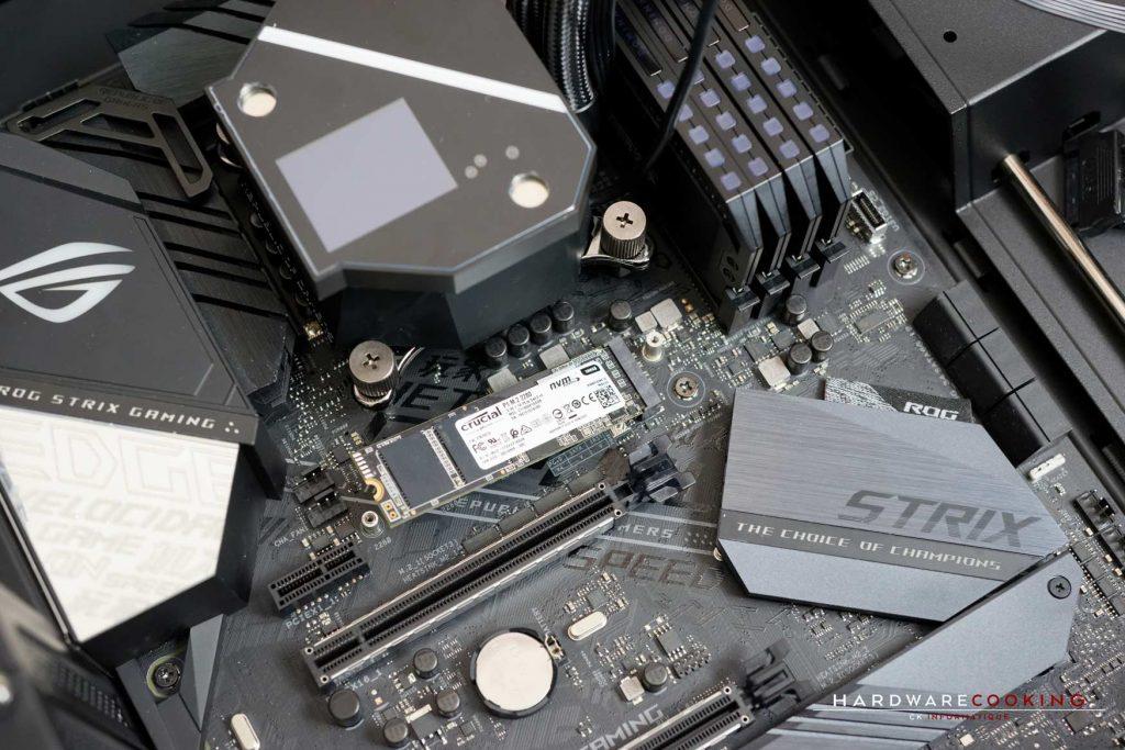 Branchement du SSD M.2