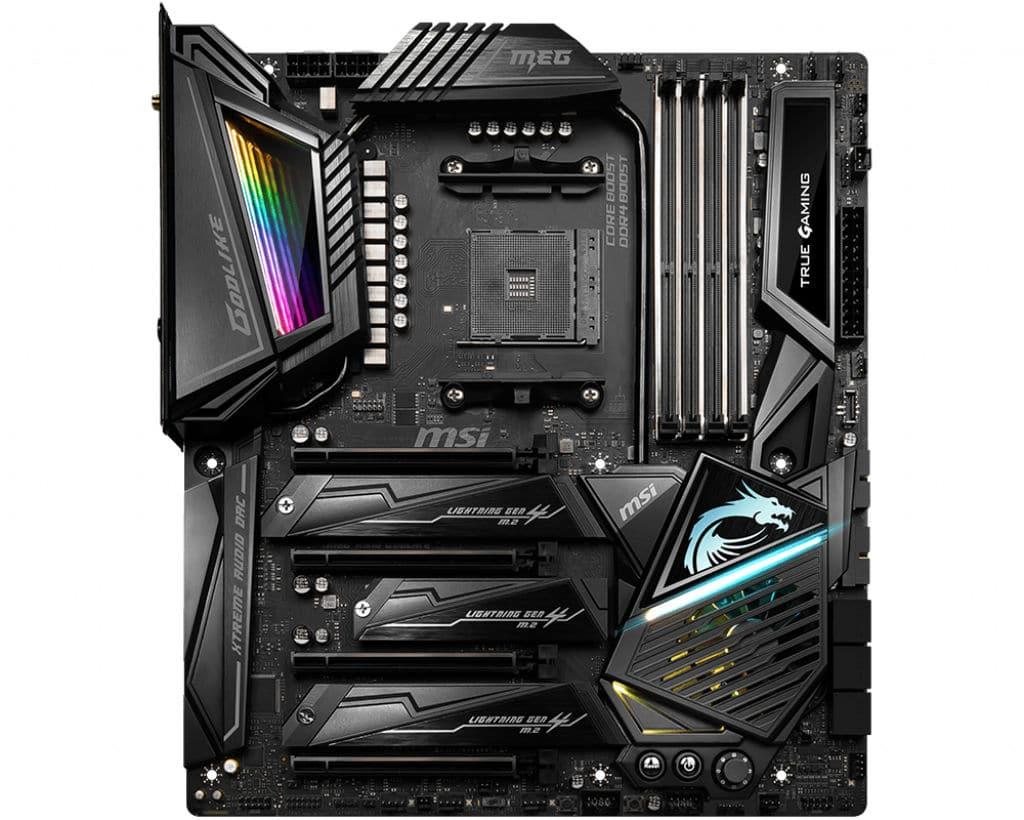 Détail sur les prix des CPU AMD Ryzen 3000 et des cartes mères X570 Msi-meg-x570-godlike-2