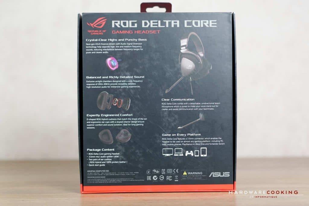 Boîte ASUS ROG Delta Core