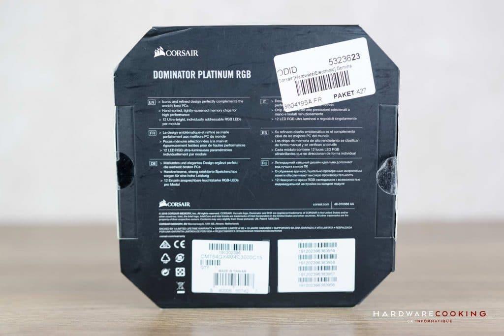 Bundle Corsair Dominator Platinum RGB