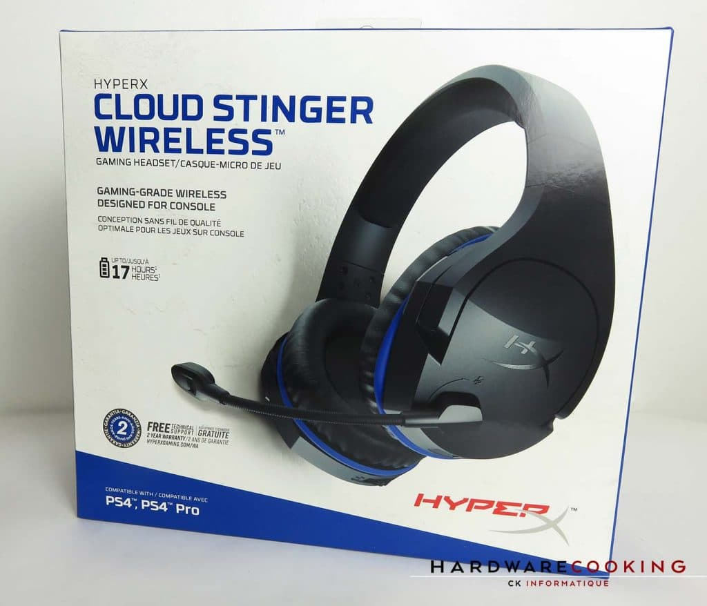 casque HyperX Cloud Stinger Wireless boite