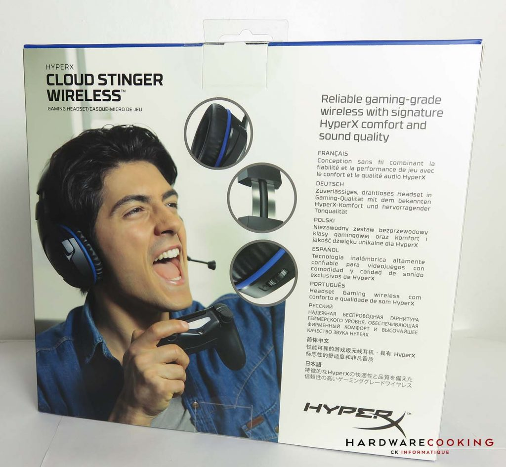 HyperX Cloud Stinger Wireless boite