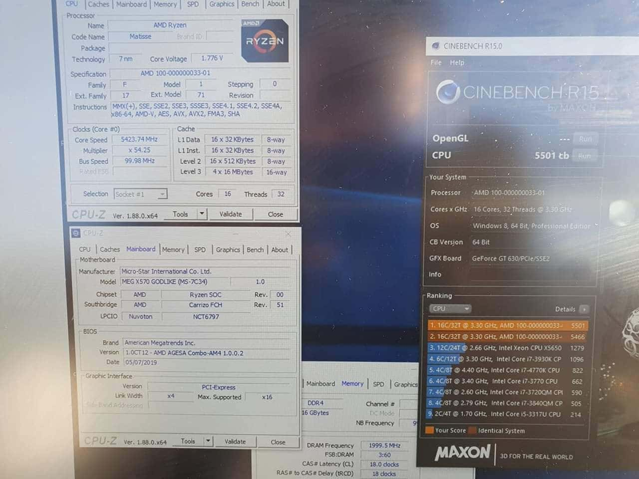 AMD Ryzen 9 3950X Cinebench R15