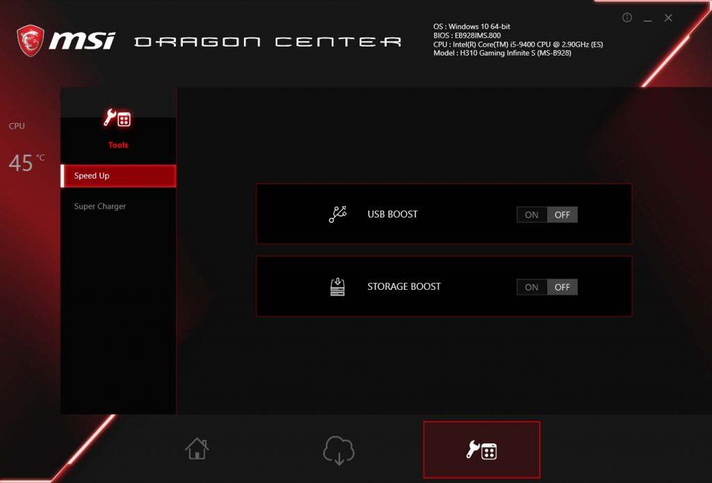 MSI Infinite S 9th Dragon Center