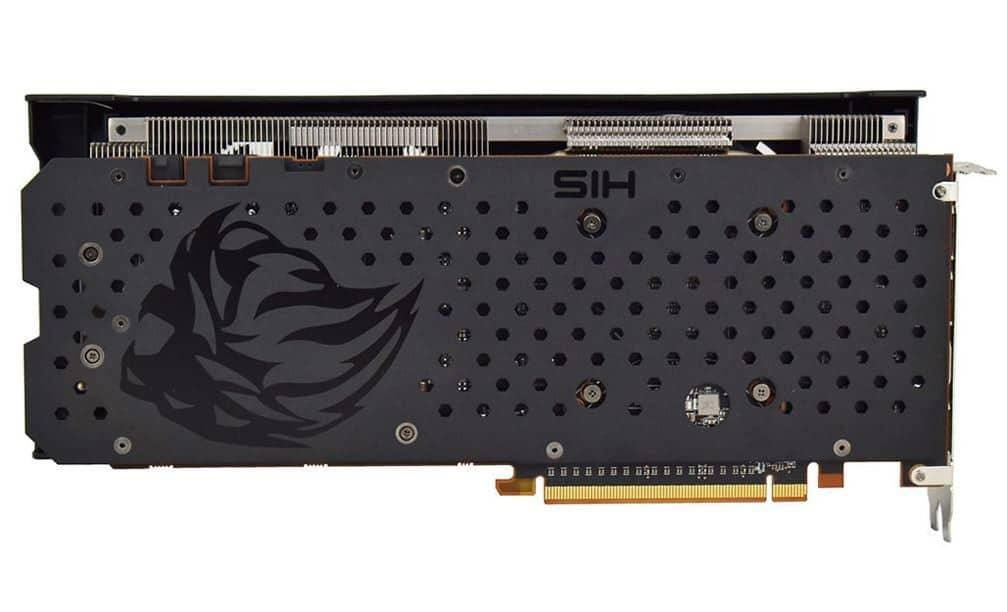 HIS Radeon RX 5700 XT IceQ X2 backplate