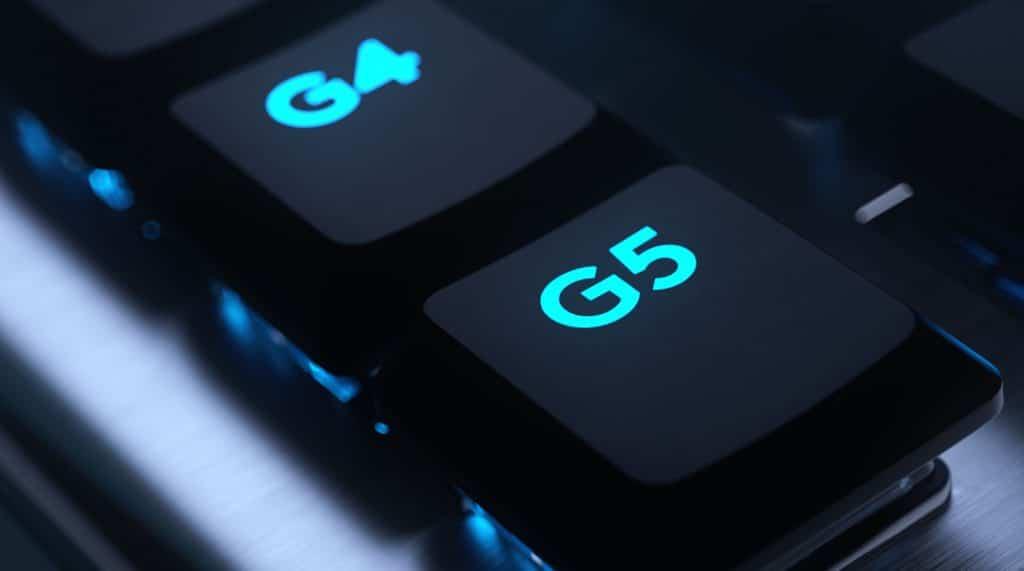 Logitech G915 Lightspeed touche G