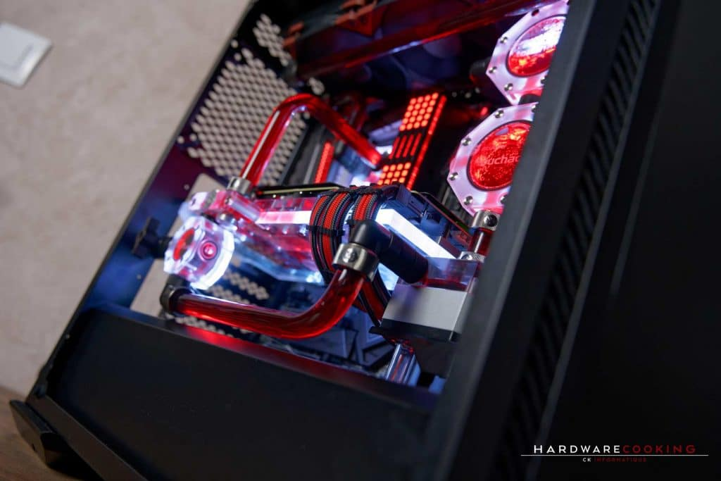PC full MSI en watercooling custom par hardwarecooking et CK Informatique