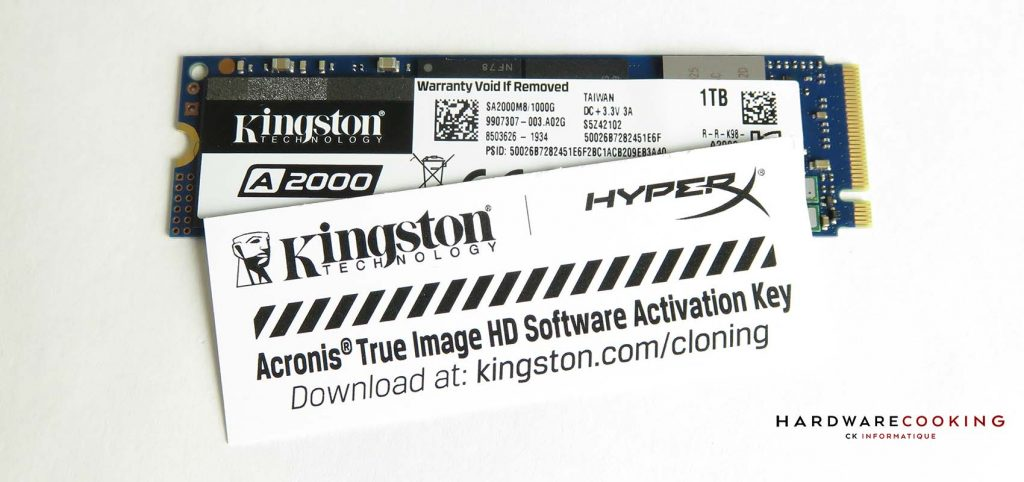 Kingston A2000 1 To Acronis