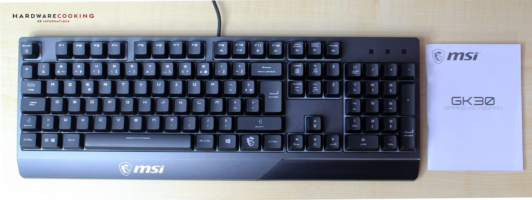 Vigor GK30 Combo clavier face avant
