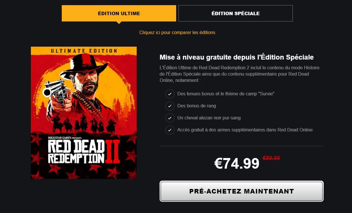 edition ultime red dead redemption 2