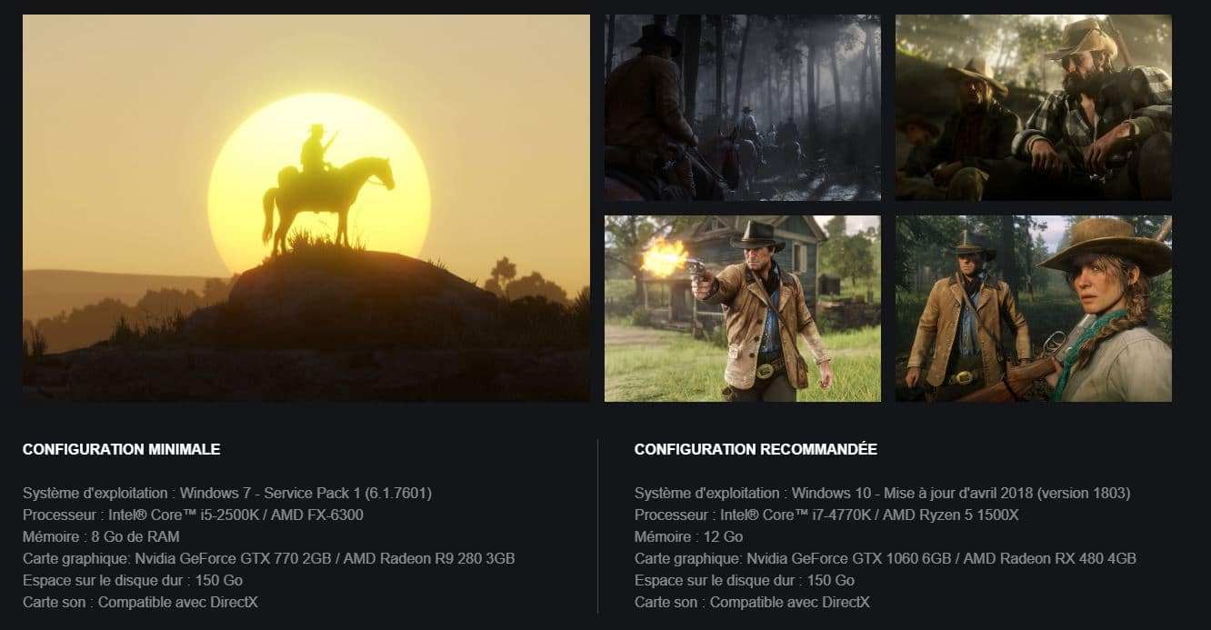 configuration red dead redemption 2