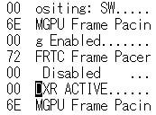 code dxr active