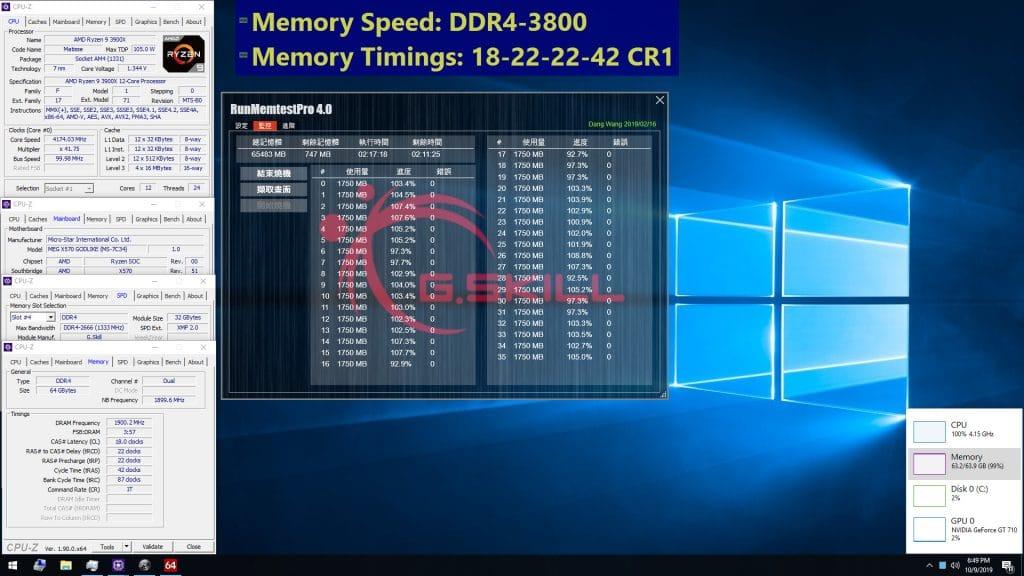 G.Skill Trident Z Neo DDR4 64 Go 3800 MHz
