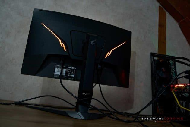 éclairage RGB écran AORUS