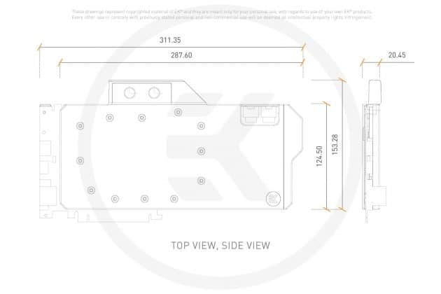Dimensions EK Quantum Vector FTW3 RTX 2080
