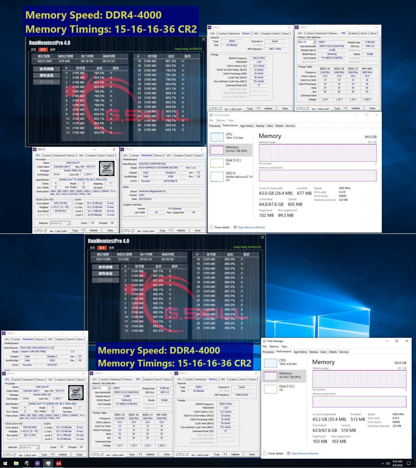 G.Skill Intel 64 Go 4000 MHz
