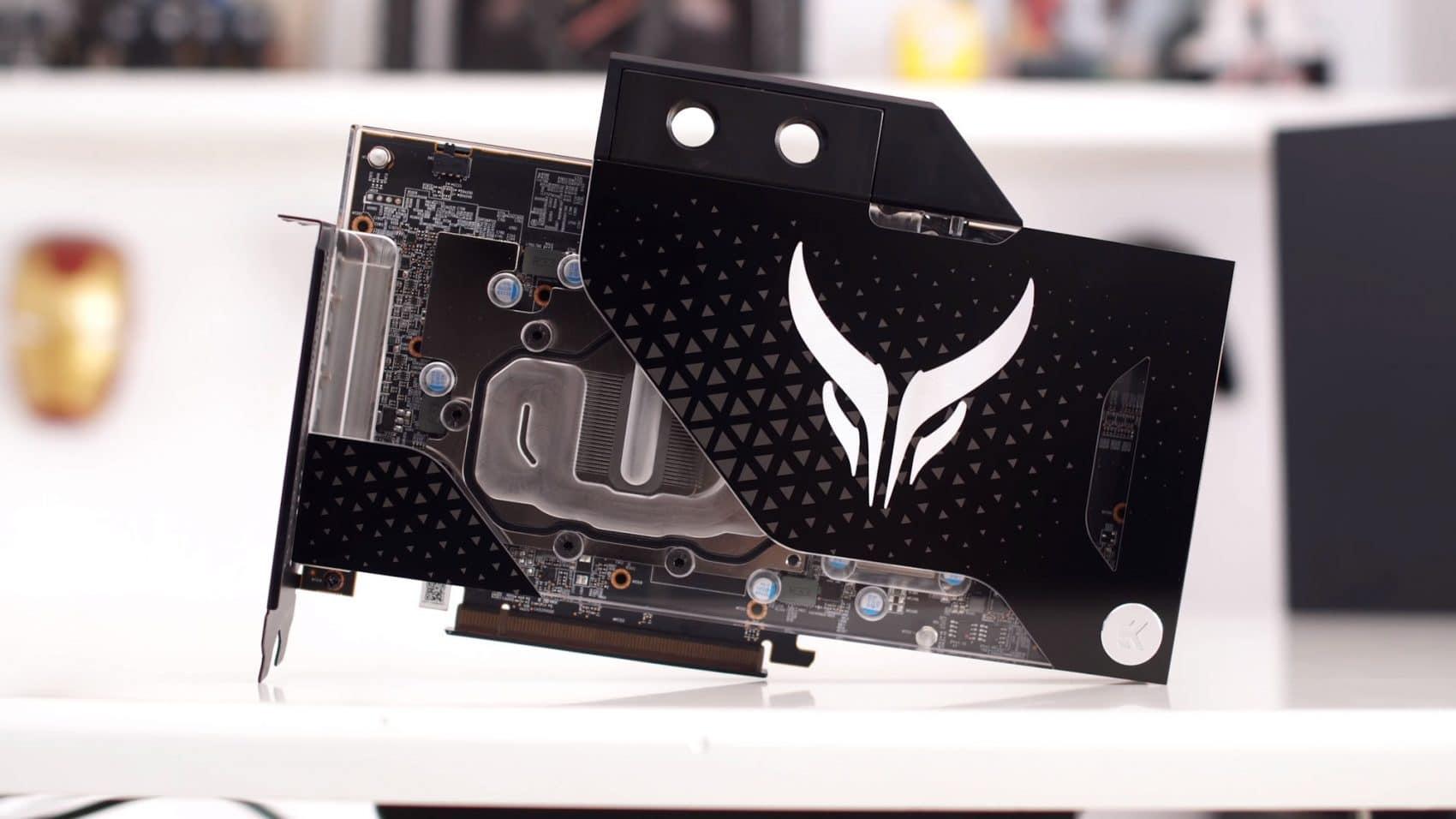 PowerColor Radeon RX 5700XT waterblock EK vue de face