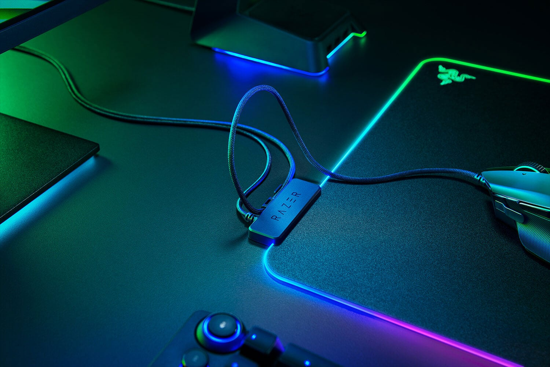 Razer Firefly v2 rgb support de câble