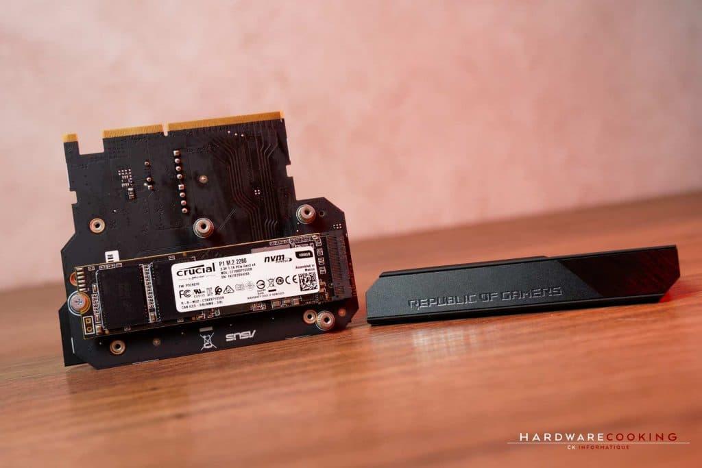 installation SSD M.2 sur ASUS ROG Crosshair VIII Impact