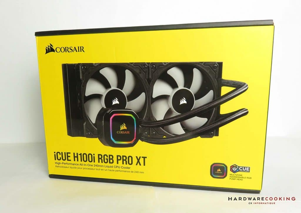 Corsair iCUE H100i RGB Pro XT boîte avant