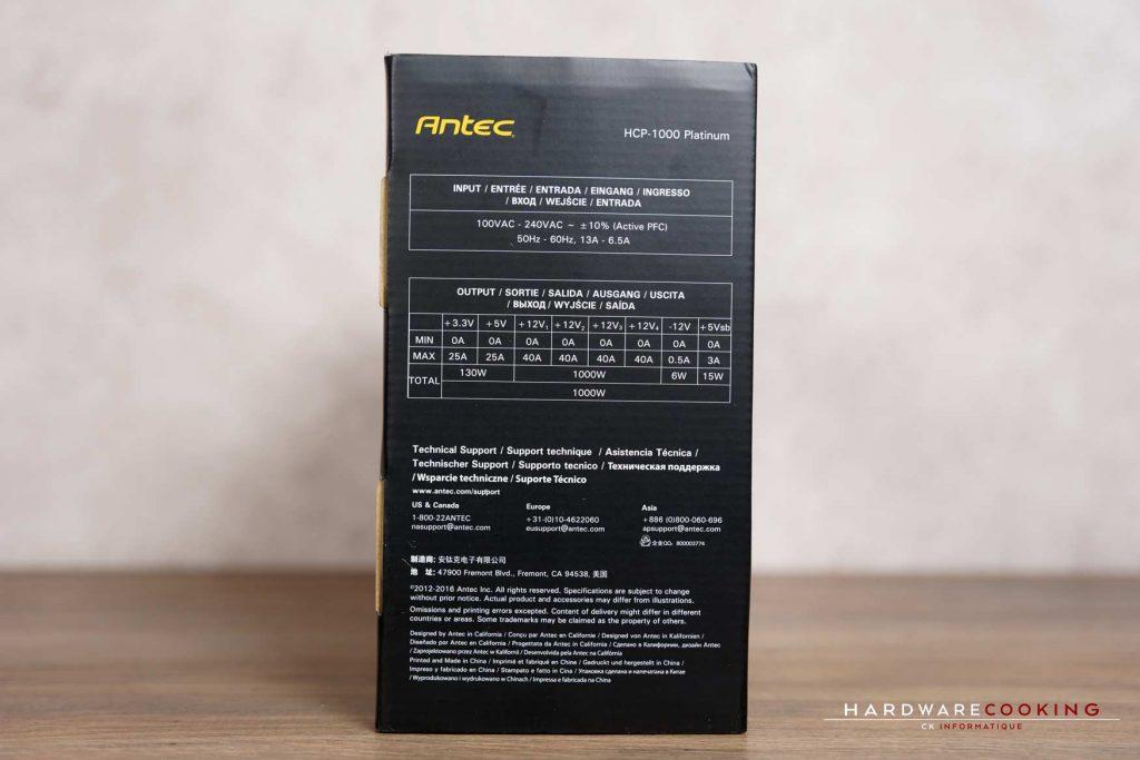 bundle alimentation ANTEC HCP-1000 Platinum