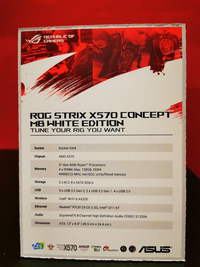 Spécifications carte mère Asus X570 White Edition
