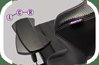Cooler Master caliber X1 accoudoirs