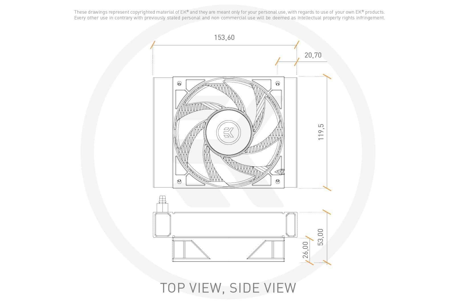 Dimensions EK-AIO 120 D-RGB