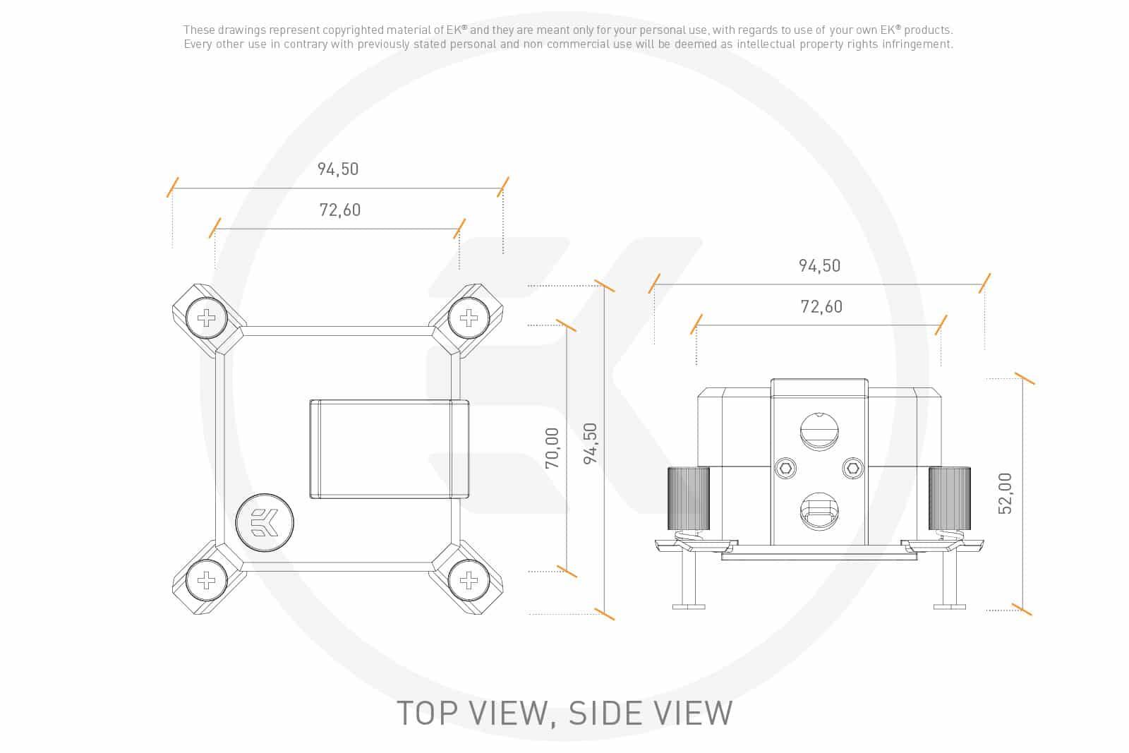Dimensions EK-AIO 240 D-RGB