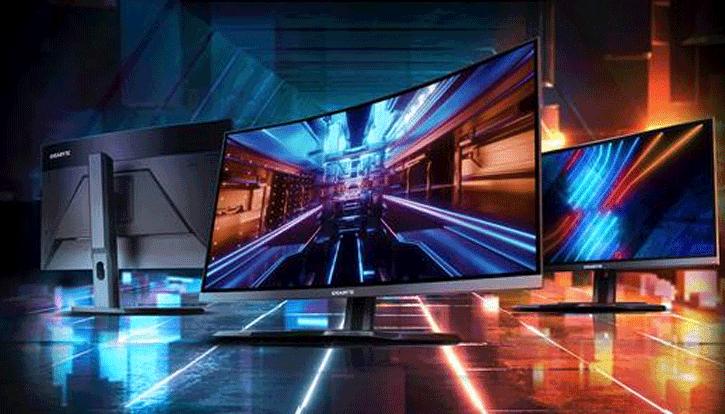 écrans GIGABYTE G32QC, G27QC et G27F