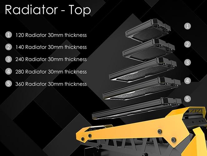 installation taille des radiateur en top