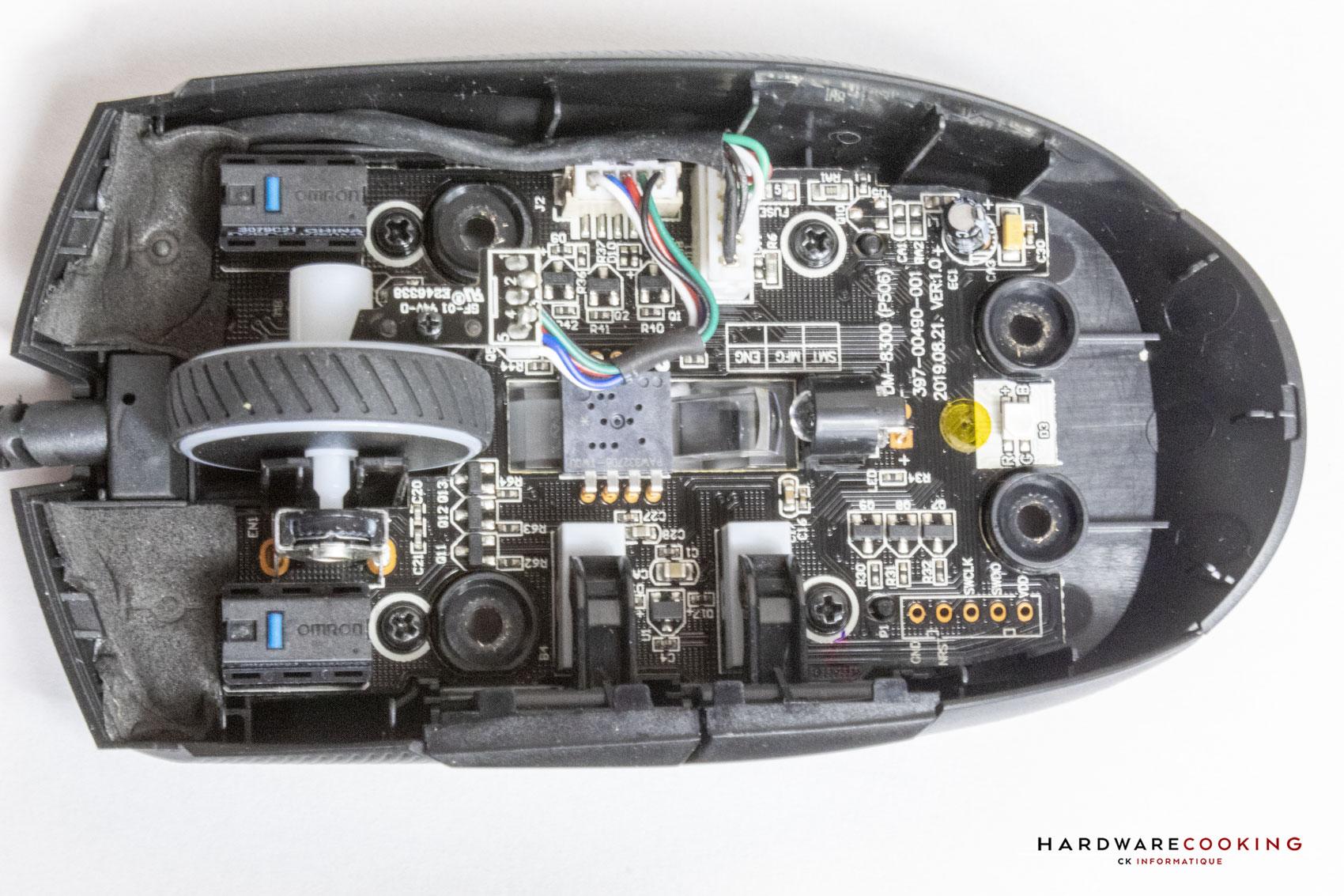 Capteur optique PIXART PAW3327DB-TWQU et switchs