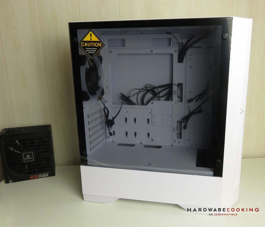 ANTEC DP501 White vitré