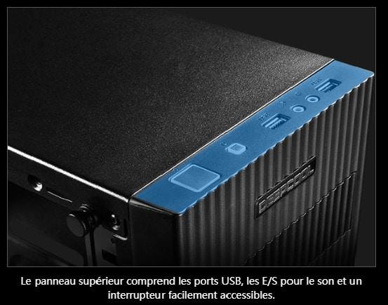Deepcool Matrexx 30 SI panneau E/S