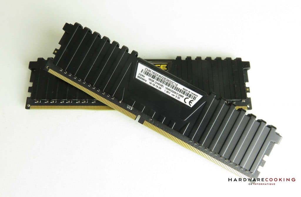 Test Corsair Vengeance LPX 3600 MHz sticker