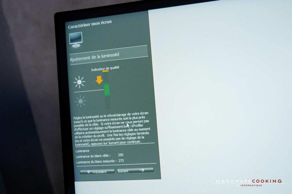 calibration avec une sonde X-rite EODIS3 i1 Display Pro