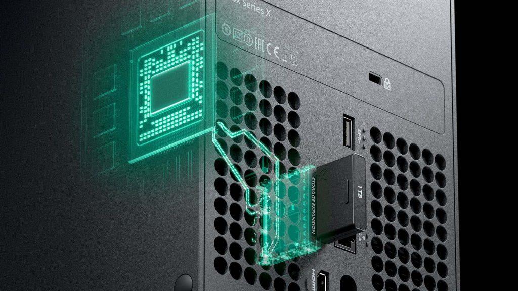 Microsoft Xbox Serie X stockage