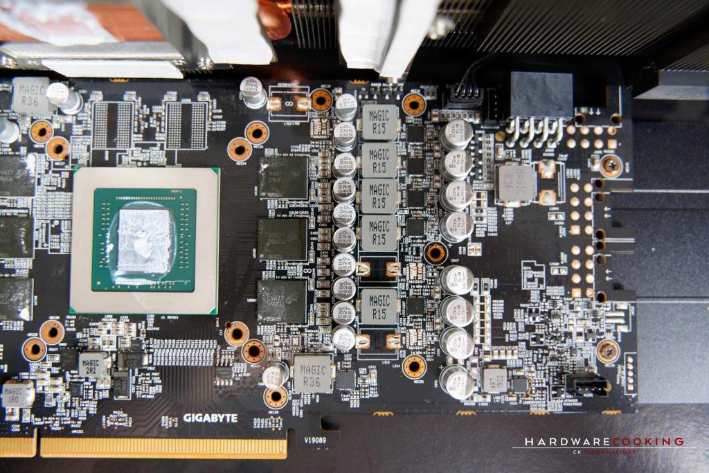 PCB et VRM GIGABYTE RX 5600 XT