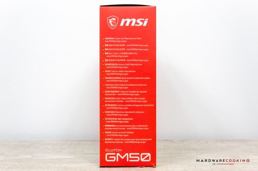 Boîte MSI Clutch GM50