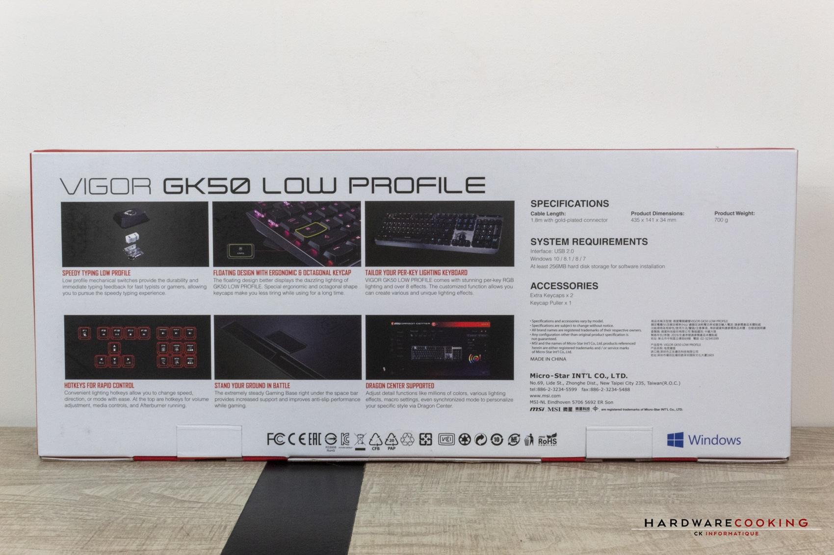 MSI Vigor KG50 Low Profile
