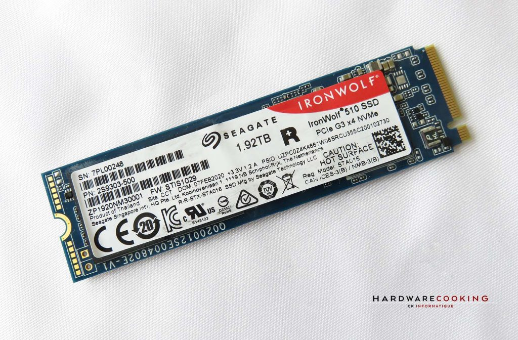 Seagate IronWolf 510 1,92 To vue 1