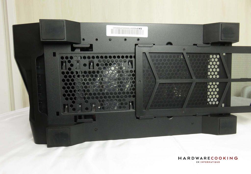 Thermaltake H550 TG ARGB grille dessous