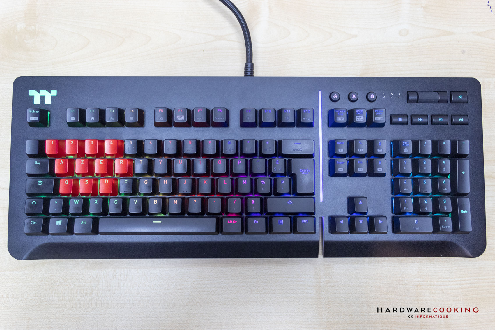 Test clavier Thermaltake Level 20 RGB