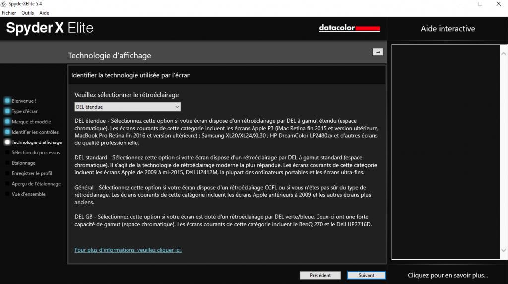 Tuto calibrage écran avec sonde Datacolor SpyderX Elite