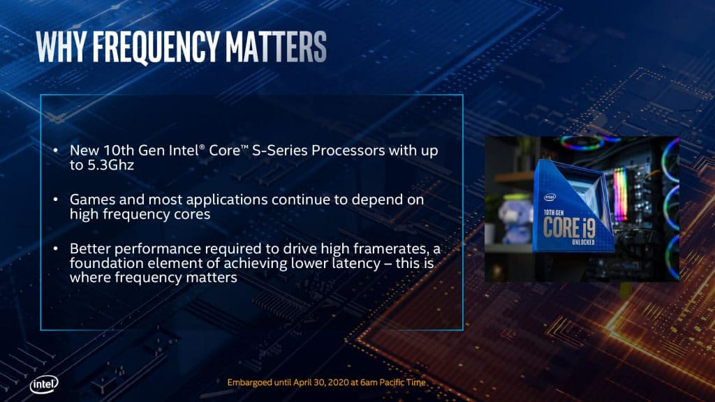 10e génération de processeurs Intel Comet Lake-S