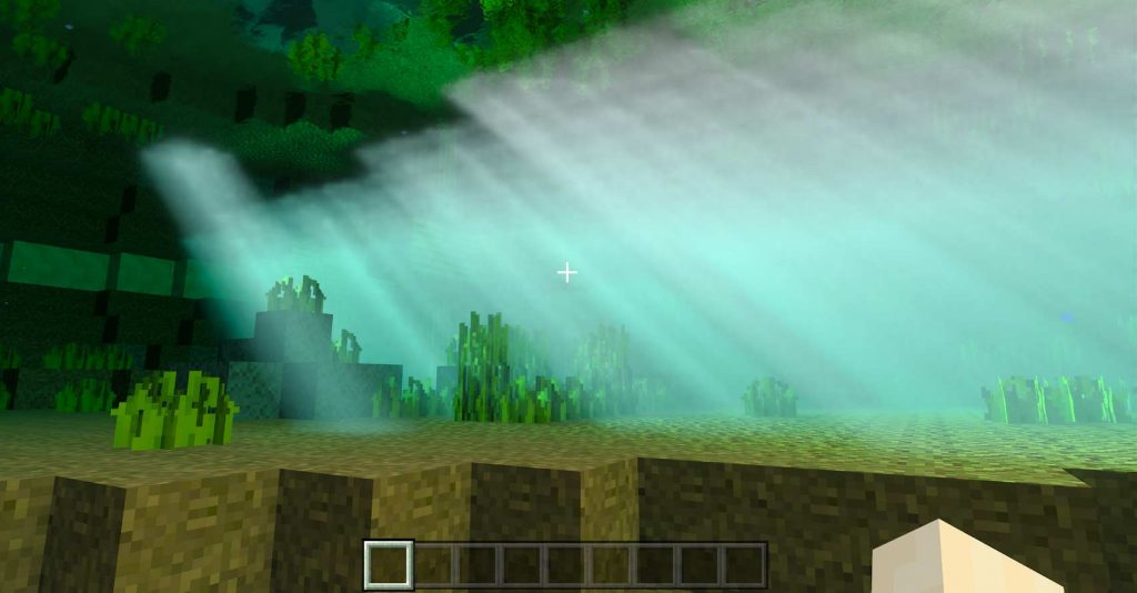 lumière sous l'eau RTX on