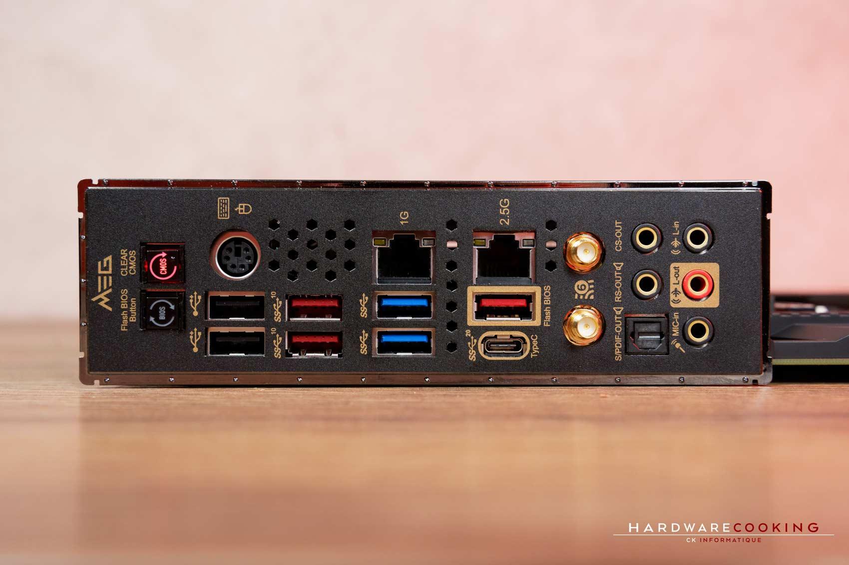 connectique MSI MEG Z490 ACE