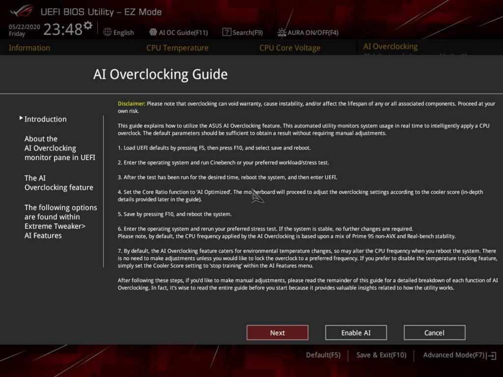 ASUS AI Overclocking