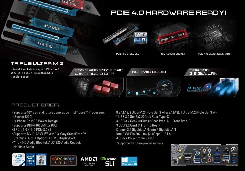 PCIe 4.0 chipset Intel Z490