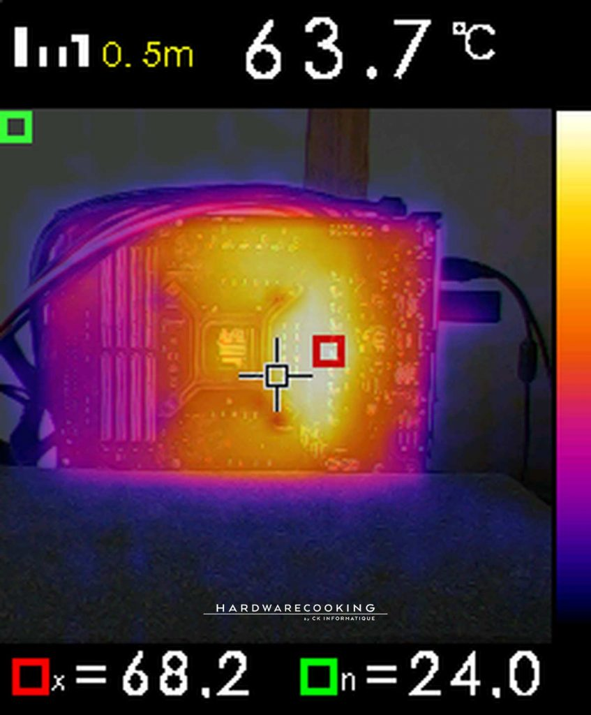 Test température VRM caméra thermique ASUS ROG MAXIMUS XII HERO
